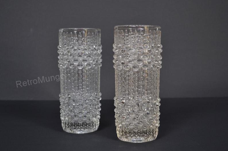 Art Glass Frantisek Peceny Retro Art Glass Vintage Sklo Union Candle Wax Glass Vase Bohemian/czech