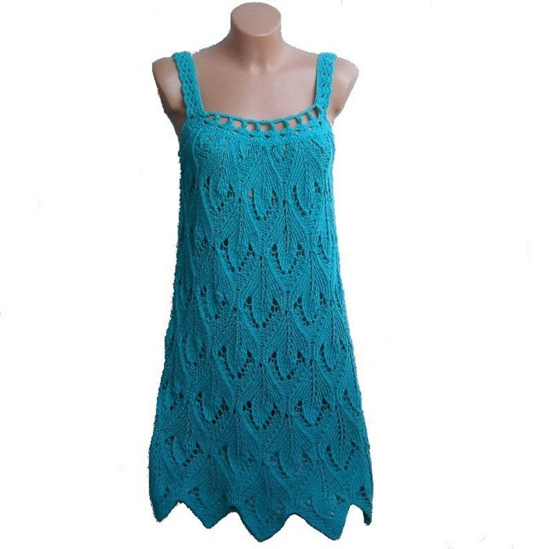 3ac6baeb338 Shinead turquoise summer dress handmade Size SM