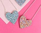 Glitter Heart Necklace, R...