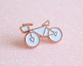 Rose Gold & White Enamel ...