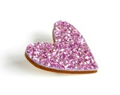 Purple Glitter Heart Pin,...