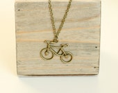 Bronze Bicycle Necklace, ...