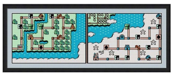 Mario 3 World Map.Super Mario Bros 3 World 5 Map Cross Stitch Pattern Pdf Etsy