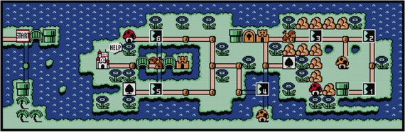 Super Mario Bros 3 World 4 Map Cross Stitch Pattern Pdf Etsy