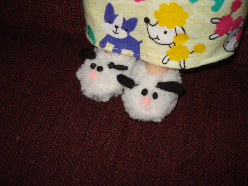 c958d8c1bb91 Sheep Lamb Slippers fits 14 1 2 inch girl doll like Wellie