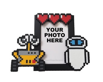 Wall-E and Eve Couples Picture Frame - Disney Couples Photo Frame - Wall-E and Eve Wedding Gift - Disney Engagement Photo