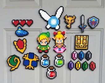 Magnets - Legend of Zelda Magnets - Link and Zelda Magnets - Legend of Zelda Home Decor - Legend of Zelda Decorations