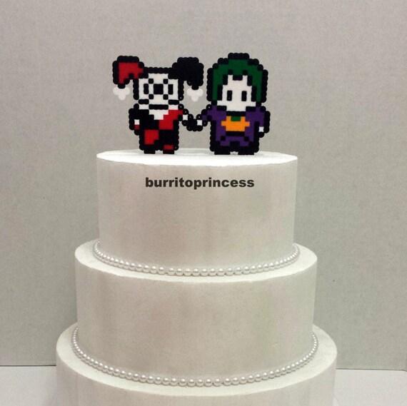 Kuchen Topper Joker Und Harley Quinn Hochzeitstorte Topper Etsy
