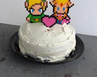 Cake Toppers - Link and Zelda Wedding Cake Topper Set