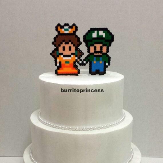 Kuchen Topper Luigi Und Daisy Hochzeitstorte Videospiel Etsy