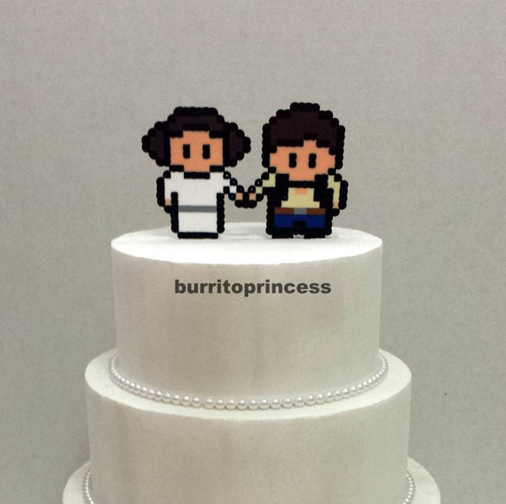 Wedding Cake Topper Star Wars Wedding Cake Topper Han Solo And Princess Leia Wedding Cake Topper Star Wars Cake Topper Nerdy Wedding
