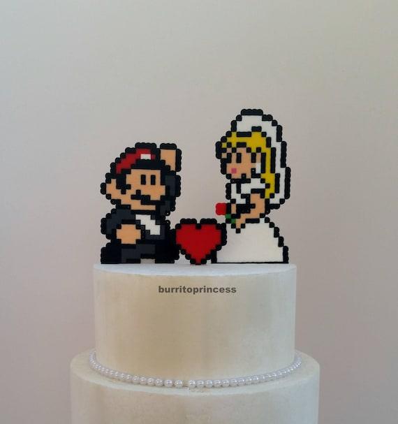 Kuchen Topper Mario Und Prinzessin Peach Hochzeitstorte Etsy