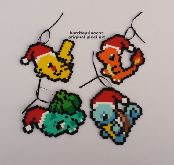 Pokemon Christmas Ornaments Charmander Pikachu Squirtle And Bulbasaur Christmas Ornaments Pokemon Christmas