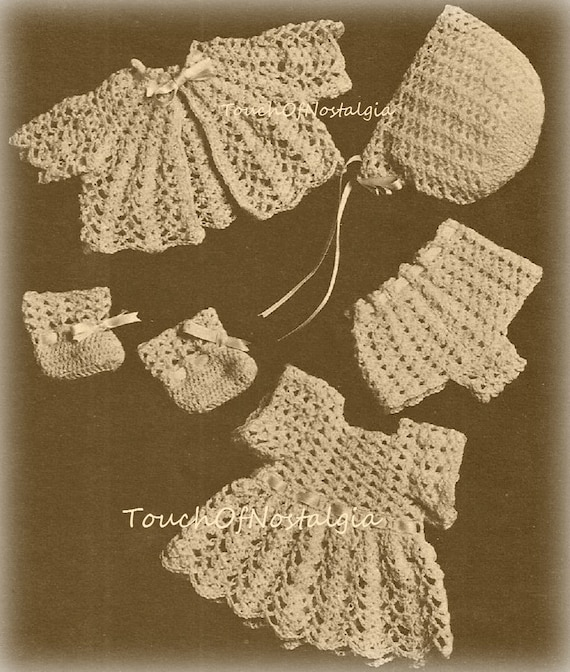 Crochet Doll Clothes Vintage Crochet Pattern Lacy Doll Etsy