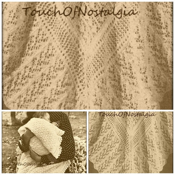 2 Lacy Baby Shawl Knitting Patterns Heirloom Fairy Lace Baby Etsy