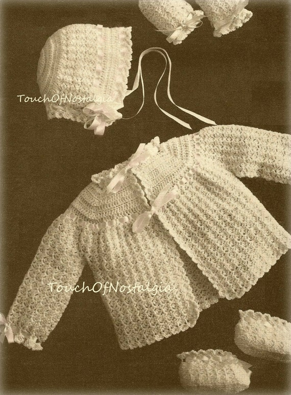 Crochet Baby Layette Vintage Crochet Pattern Heirloom Lace Etsy