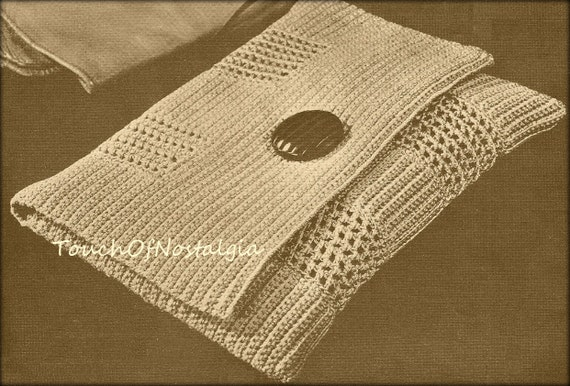 Envelope Clutch Crochet Pattern Chic Style Envelope Evening Etsy