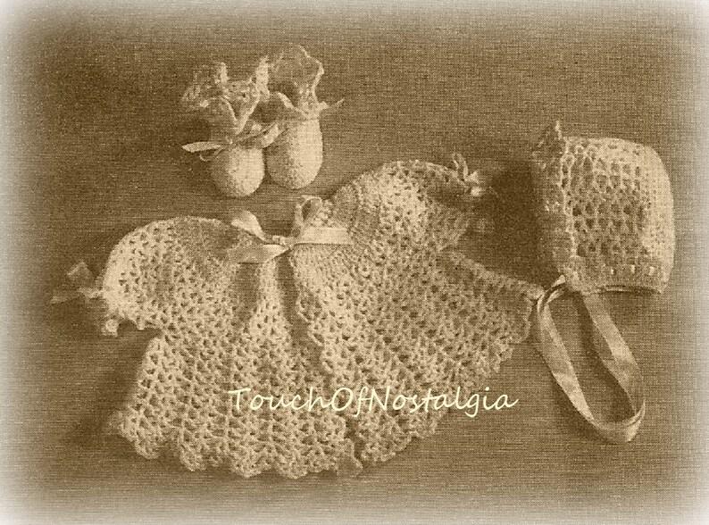 68d71f2b4602 Crochet Baby LAYETTE Set Crochet Pattern Vintage SIMPLY SWEET