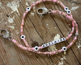 Mask chain beaded mask holders heart necklace star beads