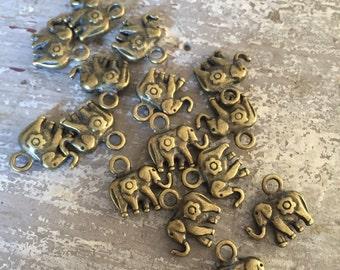 100 elephant charms pendants elephant jewelry good luck bracelet beaded bracelet beading supplies elephant bracelet