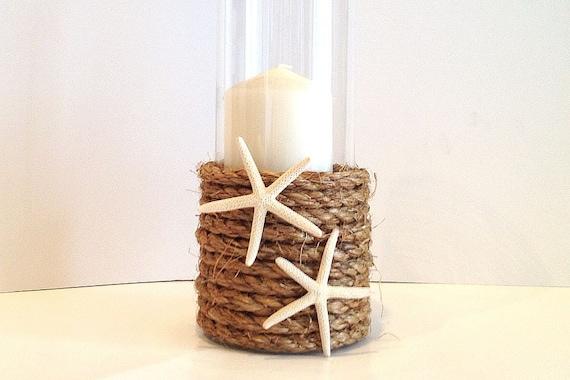 Beach Wedding Glass Hurricane Vase Perfect Centerpiece Etsy