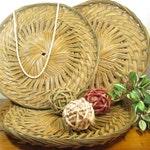 Bohemian Basket, Round Rattan Boho Wall Basket