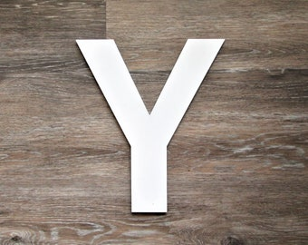 Industrial Letter Y, 12 Inch Vintage Metal Letter Y, Gallery Wall Letter