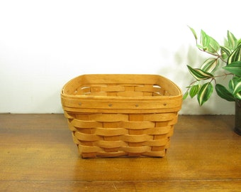Longaberger Basket,  Large Berry Basket 1993, Square Basket, No Handle