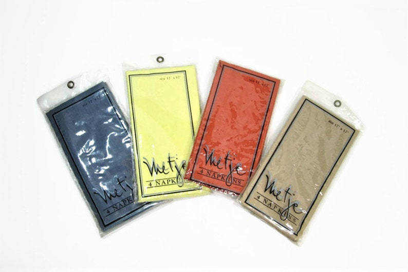 Vintage Cloth Napkins Four Sets New In Package Metje Napkins image 0