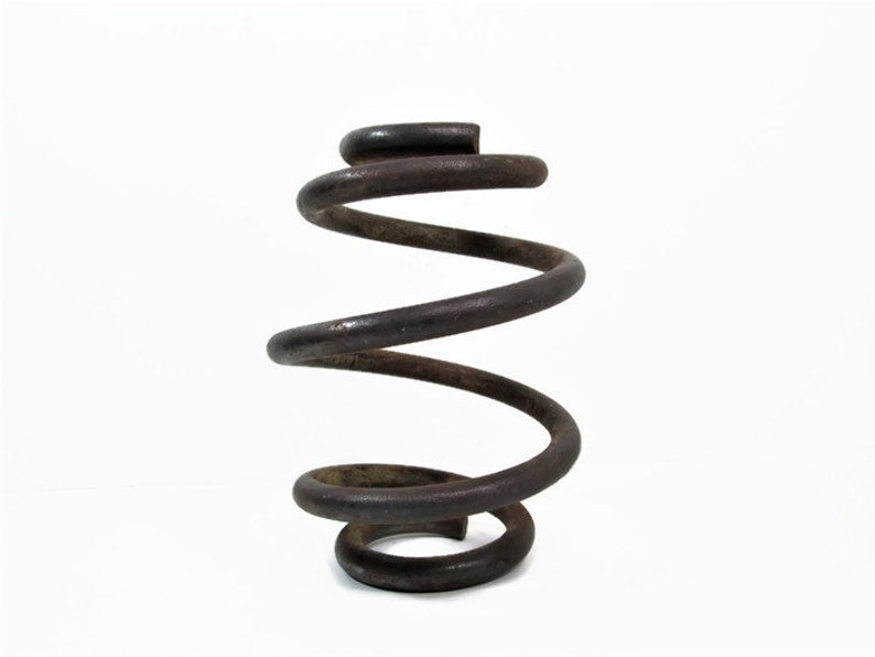 Industrial Coiled Spring Rustic Salvaged Parts Paper Weight image 0