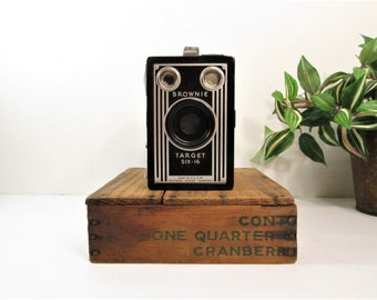 Vintage Kodak Brownie Target Six - 16 / Kodak Camera / Art Deco Box Camera