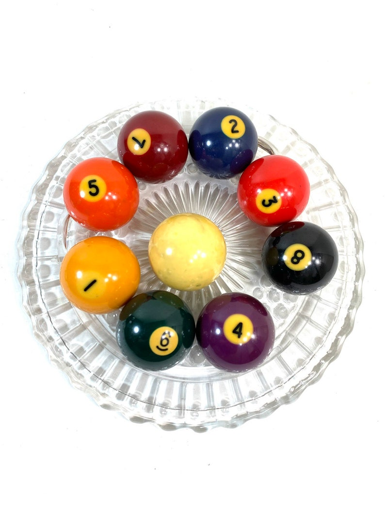 Vintage Pool Balls Billiard Balls 1  8 Pick Your Number image 0