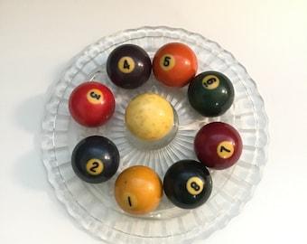 Vintage Pool Balls, Billiard Balls, 1 - 8 Pick Your Number
