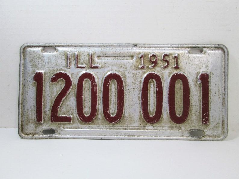 1951 Illinois License Plate 1200 001 image 0
