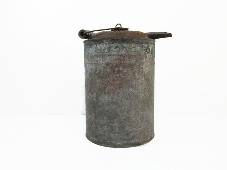 Vintage Gas Can Oil Can Kerosene Can Industrial Decor image 0