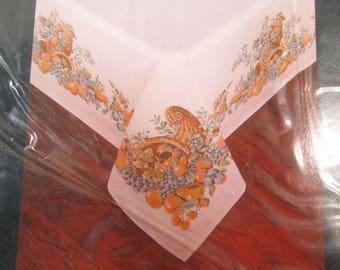 Vintage Tablecloth, Thanksgiving Table Linen, NOS