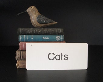 Vintage Flash Card Cats