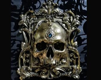 Skull Wall Plaque GOLD