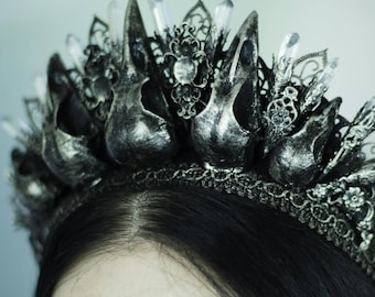 Nevermore Crow Crown - Ready Made