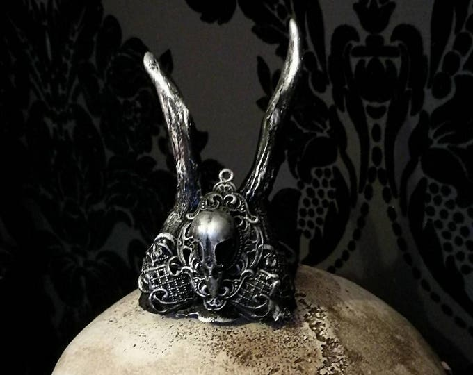 Mini Bird Skull Antler Crown - READY MADE