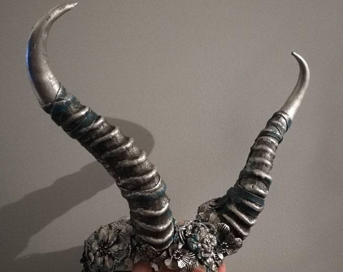 Silver & Patina Succubus Horns - Ready Made