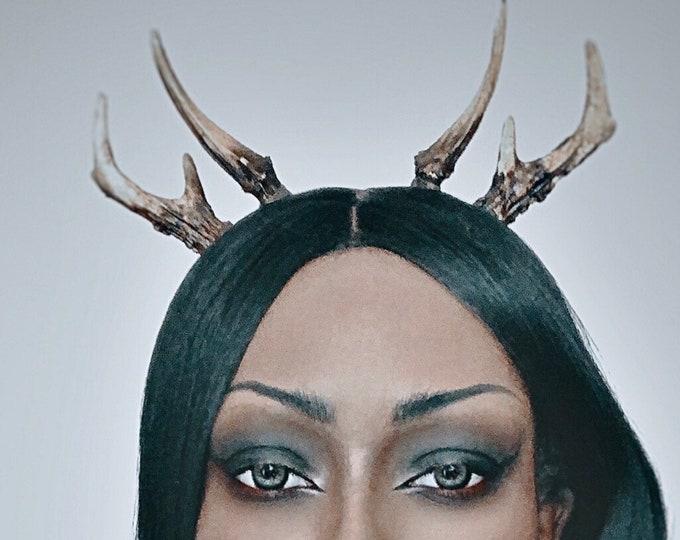 Natural Double Antler Headband - Set 2