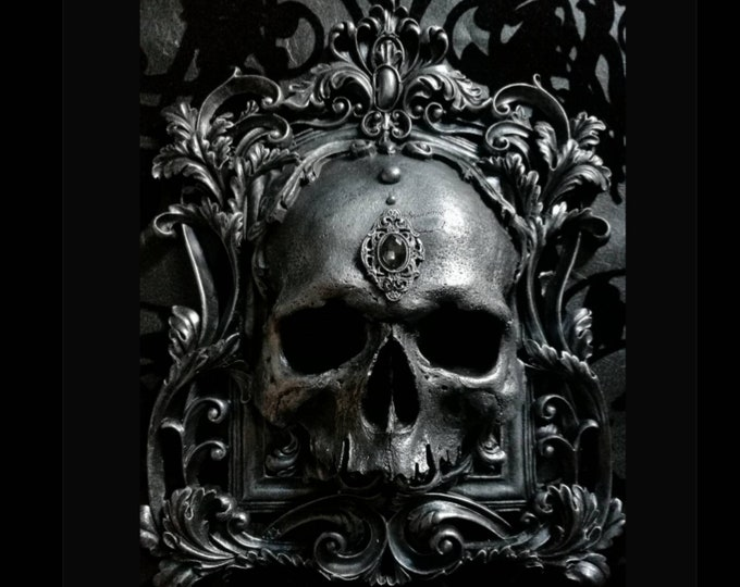 Skull Wall Plaque PEWTER