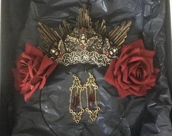 Catacomb Rose Gift Set - Halo & Earrings