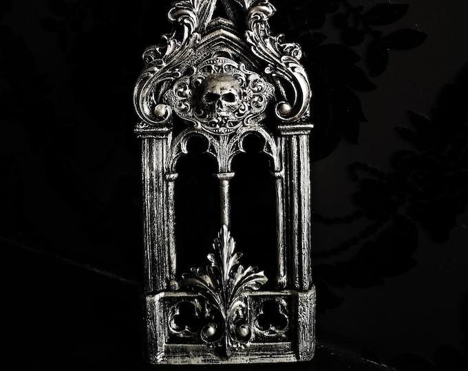 Silver Skull Abbey Wall Art