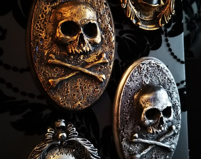 Skull and Cross Boes Wall Art