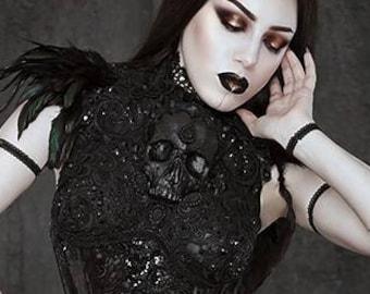 Black Gothic Skull Chestplate