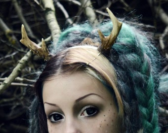 Mini Deer antlers Style A headband - READY MADE