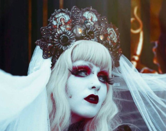 Made to order Cathedral Stained Glass Headdress