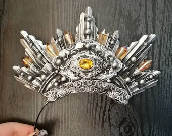 Amber & Silver Galatea Halo - READY MADE
